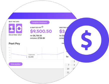 JOYN Dashboard - your pay section