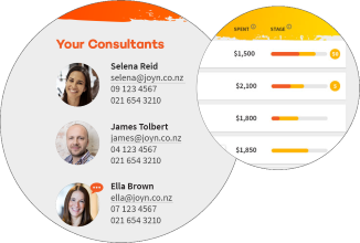 JOYN Dashboard showing on-demand Recruitment Consultants